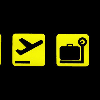 Flughafen Symbole