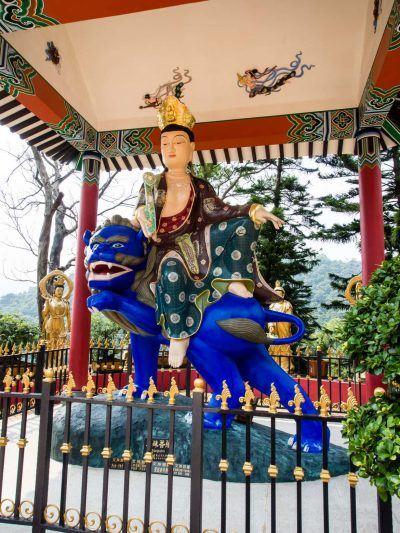 Wen Shu am 10000 Buddha Tempel in Hongkong