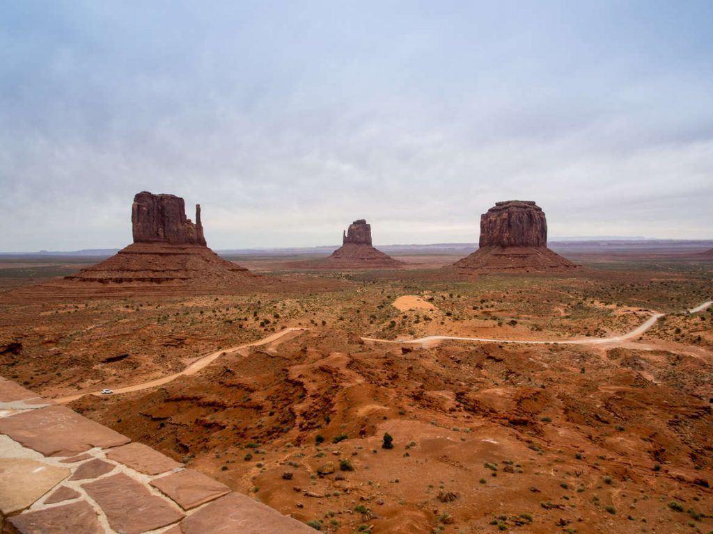Blick auf das Monument Valley vom Visitor Center