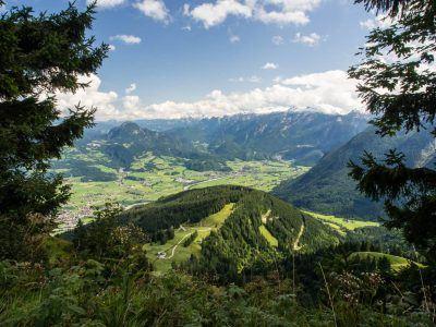 Aussicht Rossfeld-Panoramastraße in Berchtesgaden