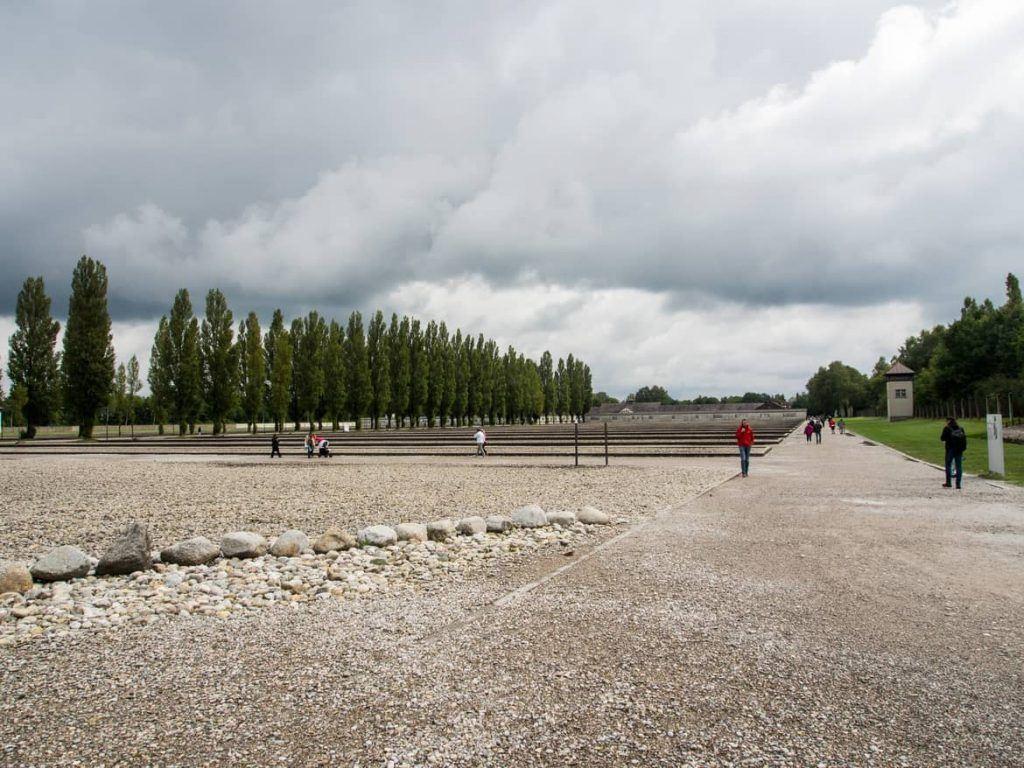 Baracken in der KZ Gedenkstätte Dachau bei München