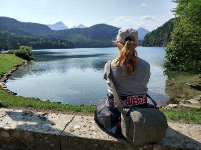 Blick über den schönen Alpsee in Bayern
