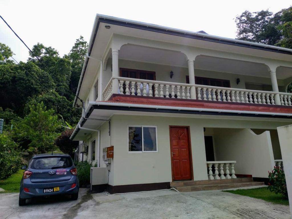 Unterkunft auf Mahé Seychellen von außen