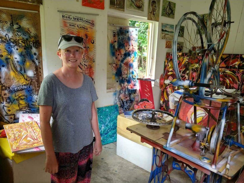 im Künstlerhaus Craft Village Mahe Seychellen