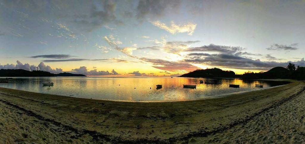 Panorama Anse Boileau auf Mahe Seychellen