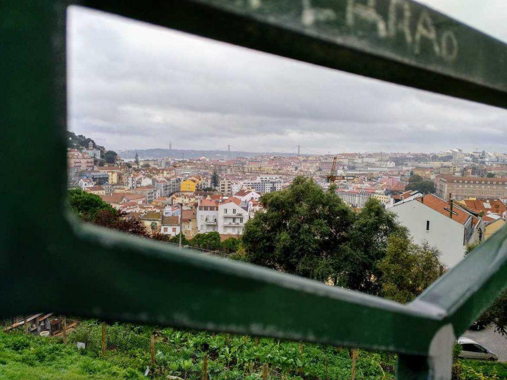Aussichtspunkt in Lissabon Portugal
