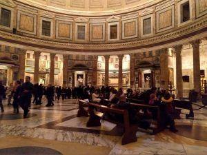 Innensicht Pantheon in Rom Italien