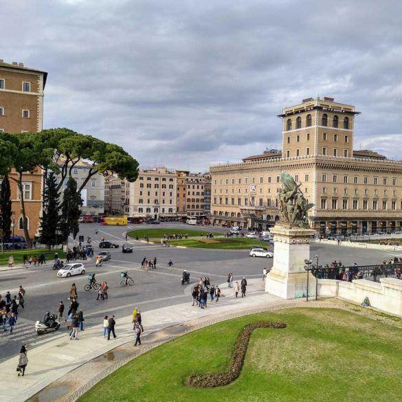 tolle Sicht auf die Straßen von Rom Italien