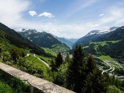 Schöne Landschaft Gotthardpass Schweiz