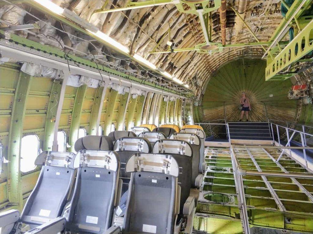 Heckbereich der Boing 747 im Technikmuseum in Speyer