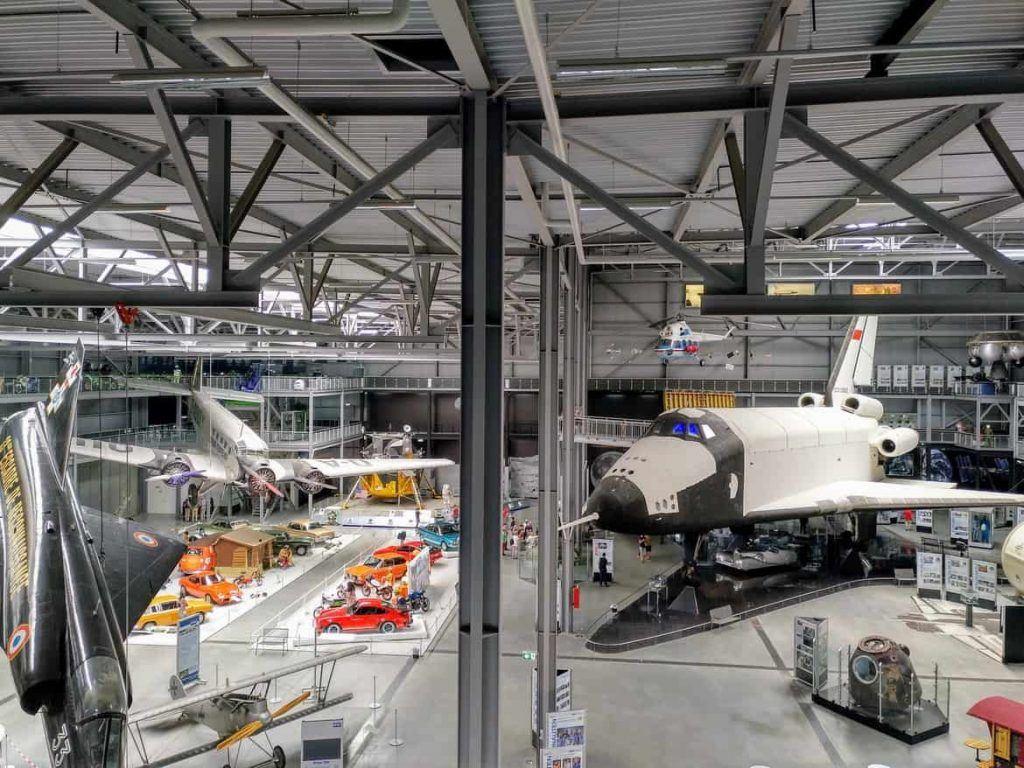 Übersicht der Halle Raumfahrt im Technikmuseum in Speyer