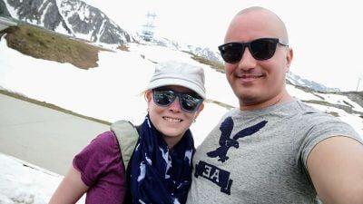 Selfie am Gotthardpass Schweiz