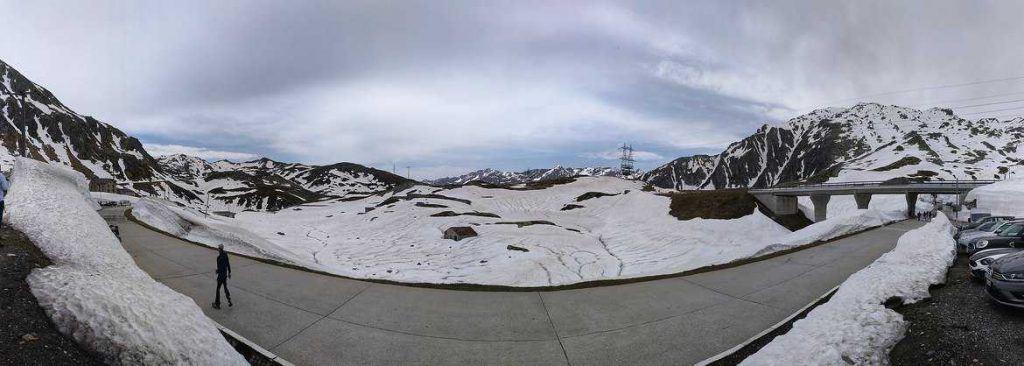 Panorama Gotthardpass Schweiz