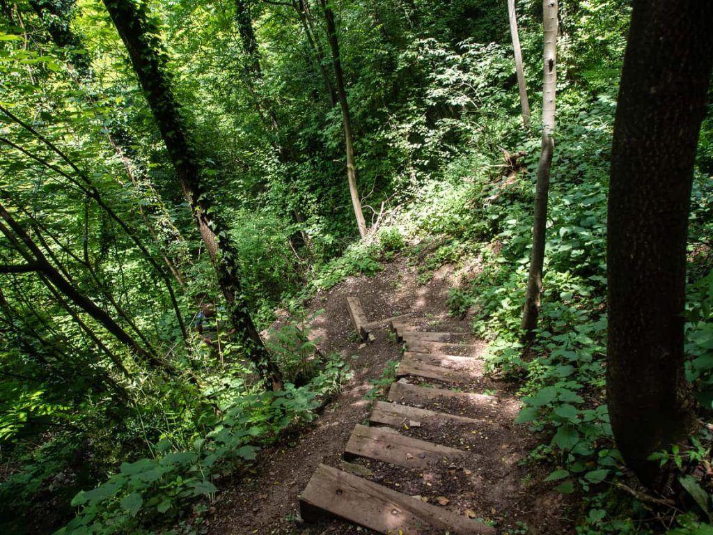 Treppen Rundwanderweg Lago di Tenno Italien