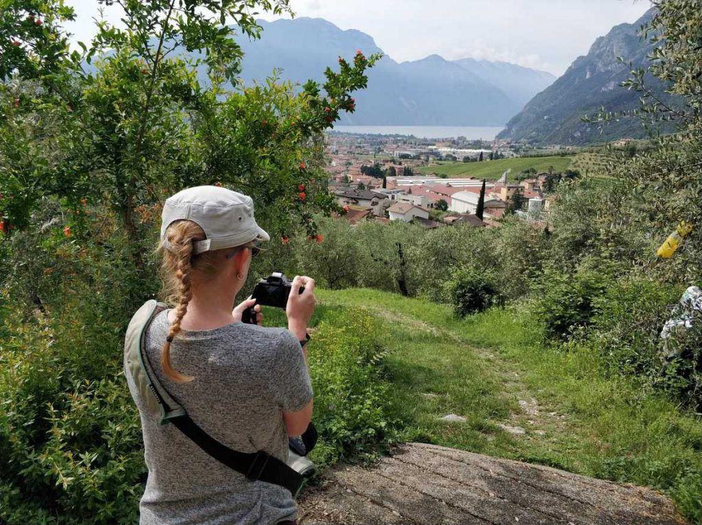 Blick auf den Gardasee Italien