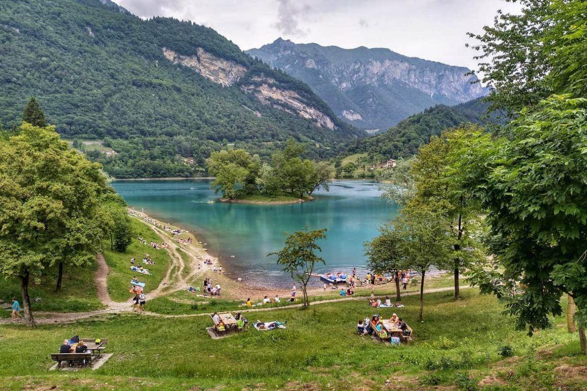 Lago di Tenno in Italien