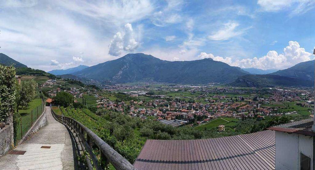 Aussicht Rundwanderweg Lago di Tenno Italien