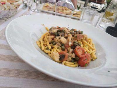Pasta im Restaurant am Gardasee Italien
