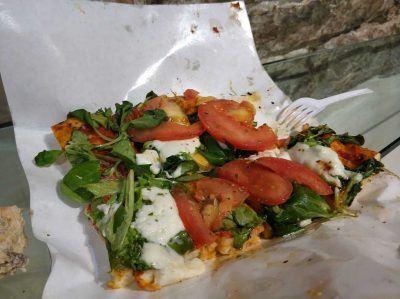 Pizzastück in Bergamo Italien