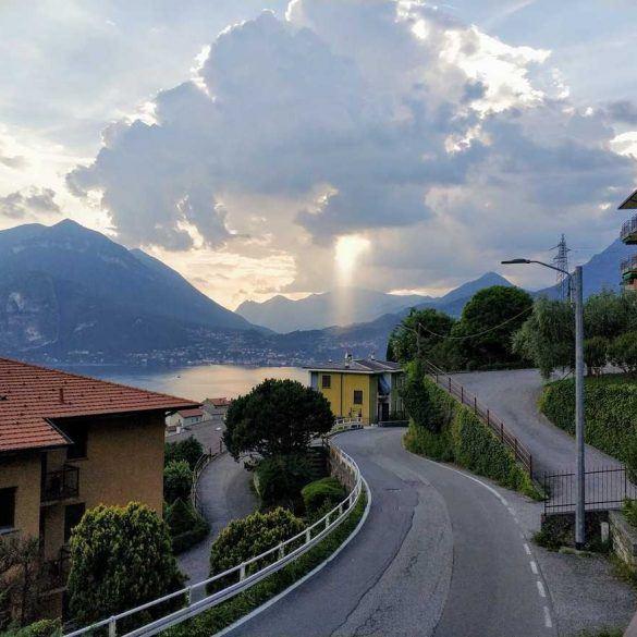 Blick auf den Lago di Como in Italien