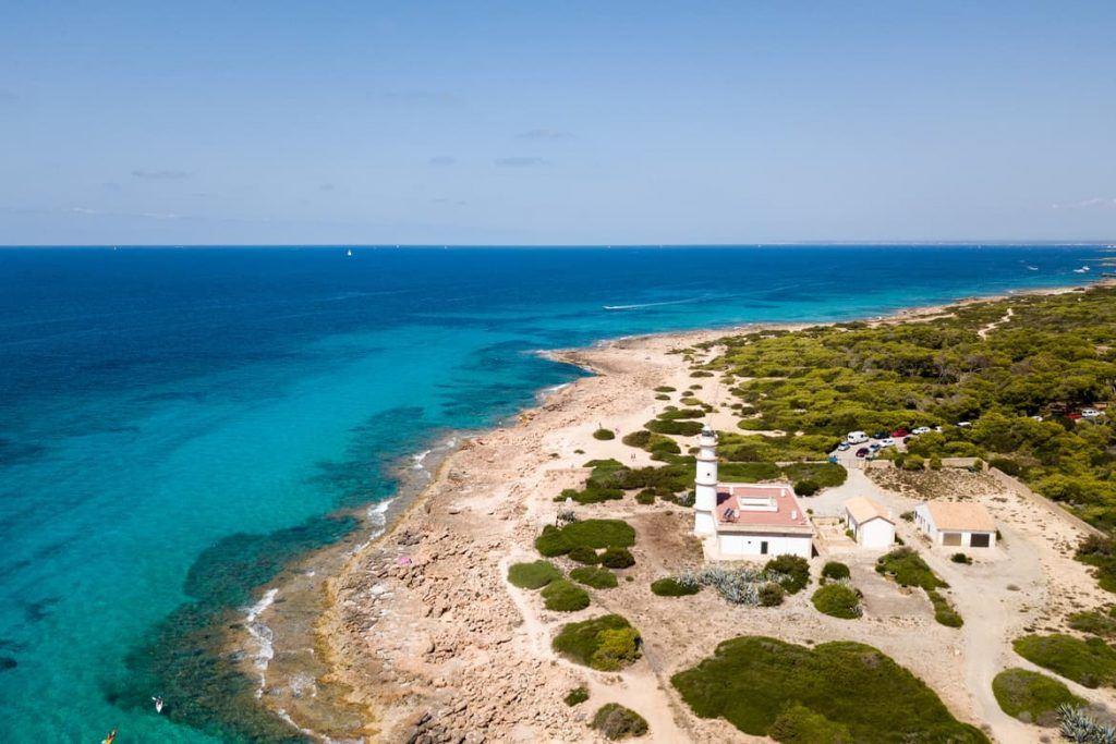 Aufnahme mit Drohne im Süden Mallorca