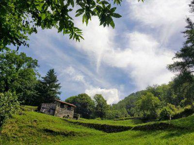 Auf Wanderung Lago di Como Italien