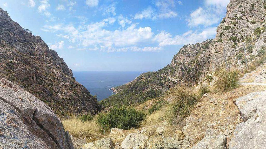 Letzter Blick auf das Mittelmeer auf Mallorca