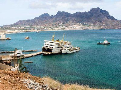 Wrack im Hafen von Mindelo auf Sao Vicente auf den Kapverden