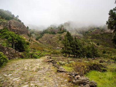Aufstieg aus dem Cova Krater auf Santo Antao Kapverden