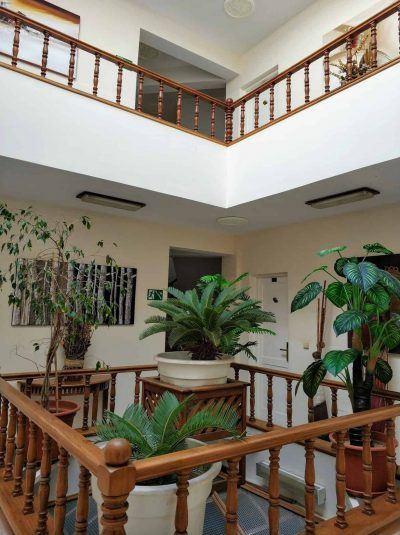 Innenhof vom Residencial Mindelo auf Sao Vicente Kapverden