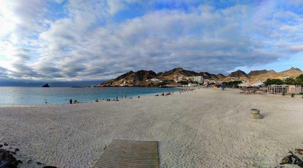 Panorama Praia da Laginha in Mindelo Sao Vicente Kap Verden