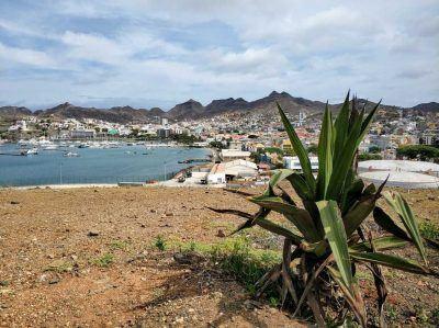 Blick auf Mindelo auf der Insel Sao Vicente auf den Kapverden