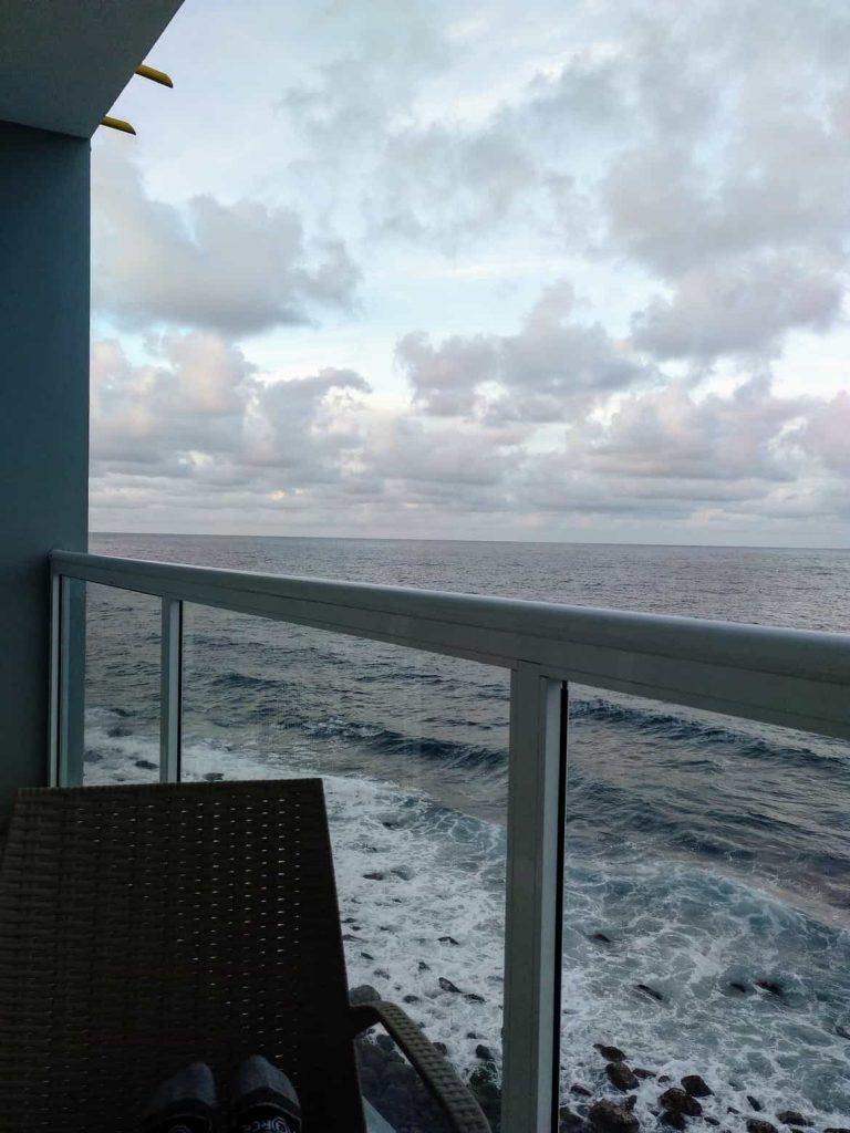 Aussicht vom Balkon Hotel Paul Mar auf Santo Antao Kapverden