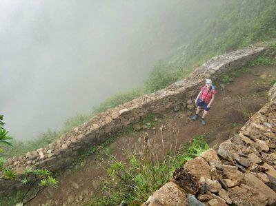 Trail hinab durch das Paul Tal auf Santo Antao Kapverden