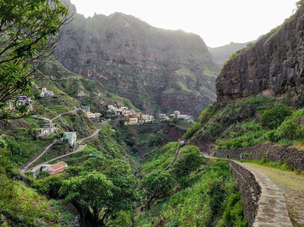 Dorf Fontainhas auf Santo Antao Kapverden