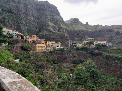 Blick auf Fontainhas auf Santo Antao Kapverden