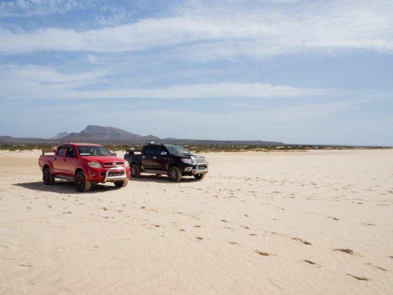 Fahrzeuge für Inseltour über Boa Vista Kapverden