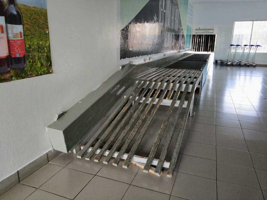 Gepäckband auf dem Flughafen Fogo Kapverden
