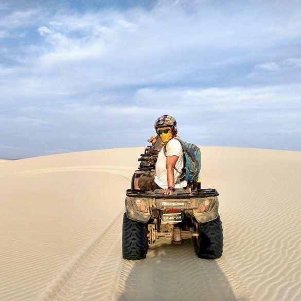 Stephan auf einem Quad auf Boa Vista Kapverden