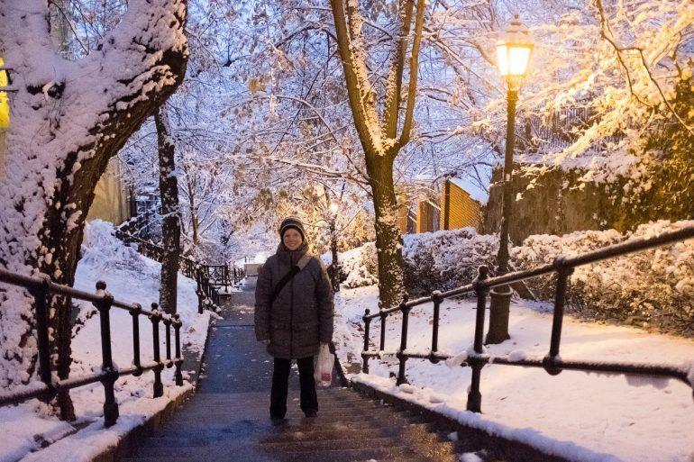 verschneites Budapest