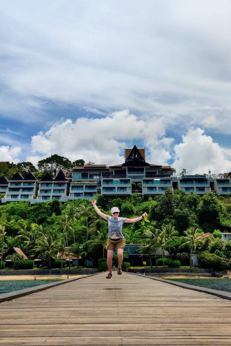 Holzsteg Intercontinental Hotel auf Koh Samui