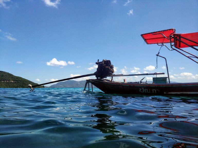 Motor Longtail Boot auf Koh Samui