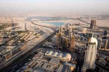 Blick vom Burj Khalifa über Dubai