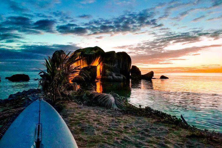 Praslin Seychellen Sonnenuntergang
