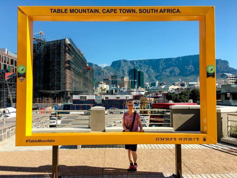 Bilderrahmen an der V&A Waterfront in Kapstadt Südafrika
