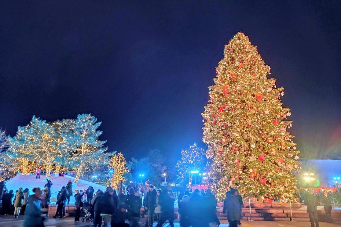 Wintermarkt in der Autostadt Wolfsburg