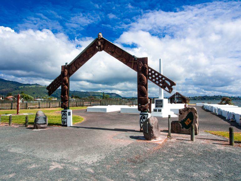 Ohinemutu in Rotorua Neuseeland