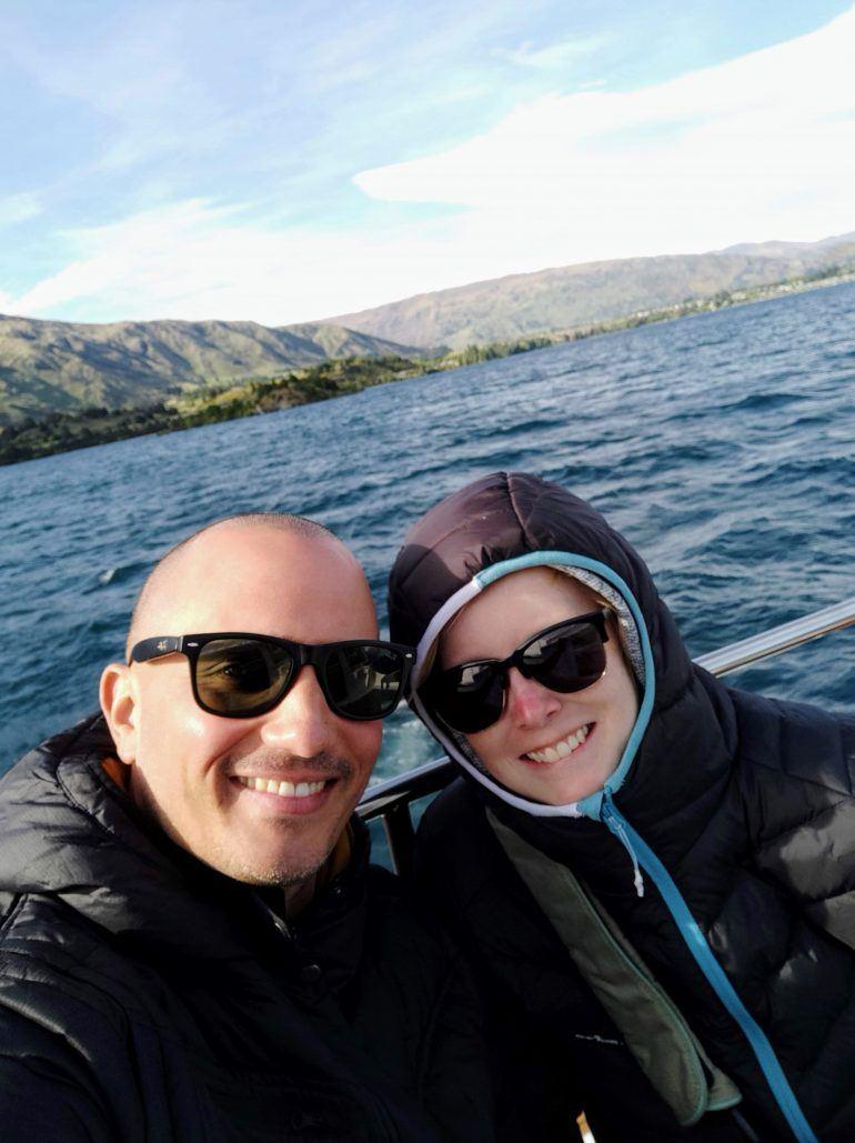 Sandra und Stephan Bootstour Lake Wanaka