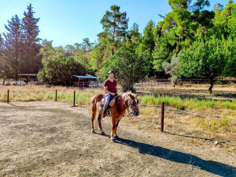Stephan auf Bob Dylan Elpida Ranch Rhodos